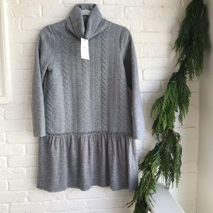 New wTags THML Turtleneck Cable knit sweater Dress